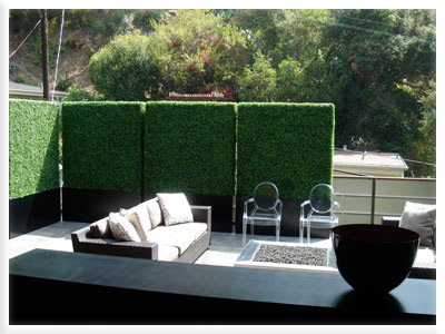 Faux Boxwood Hedges For Privacy Screens