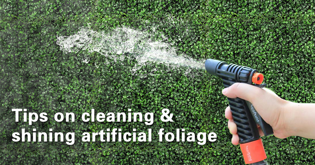 Tips on how to clean artificial hedges