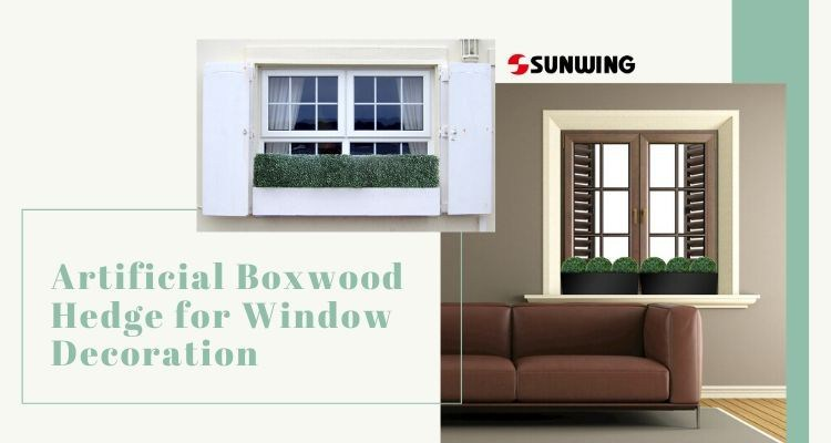 Artificial Boxwood Hedge for Window Box