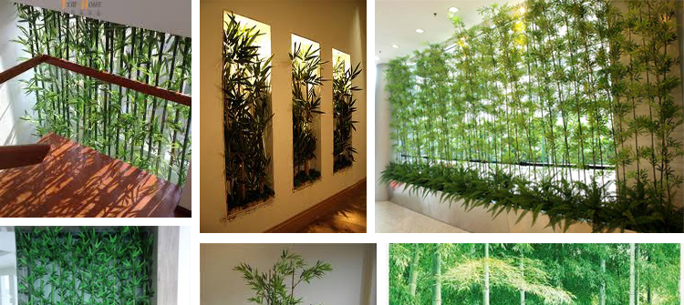 Garden Design Garden Design with Artificial bamboo plant outdoor