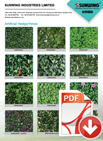 artificial hedges categories list